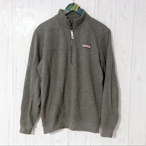Vineyard Vines Men's Gray Quarter Zip Pullover